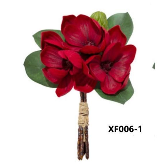 FL RAMALHETE MAGNOLIA XF006 (PETALAS DE EVA TOQUE REAL) C/ 4G A26XL23CM